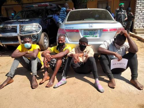 Police Parade Organisers Of Kaduna Sex Party (Photo) #Arewapublisize