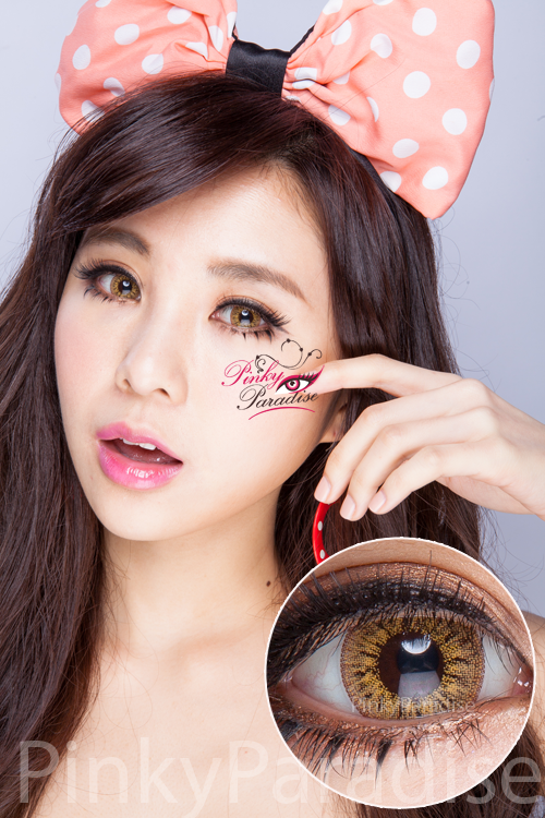 Princess Pinky Radiance Hazel Circle Lenses (Colored Contacts)