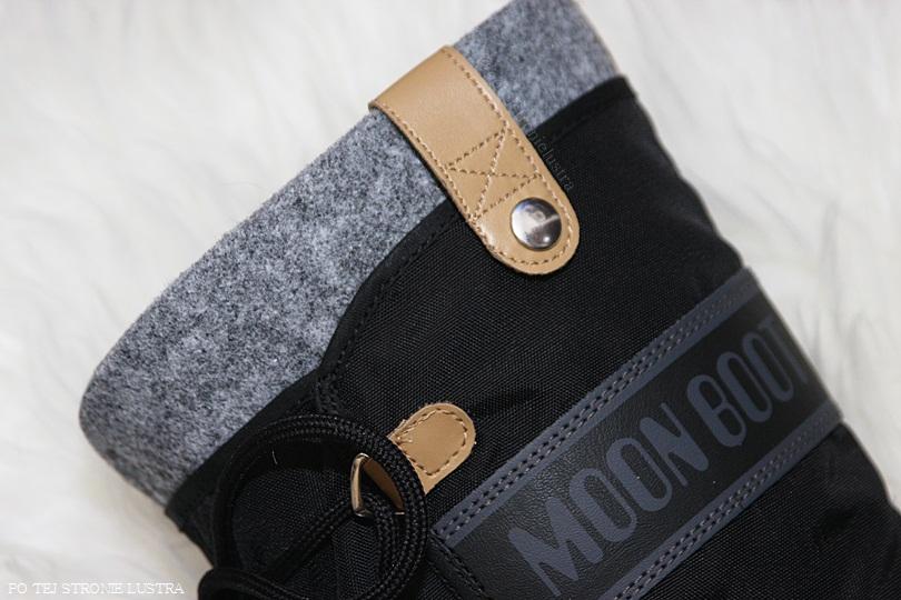 filcowa wkładka w śniegowach moon boot