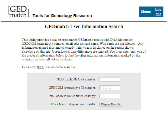GEDmatch User search