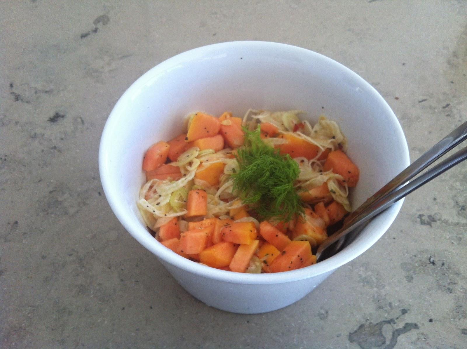 Pimpi-MEL-la: Papaya Salat oder wie ich meine Freundin zum