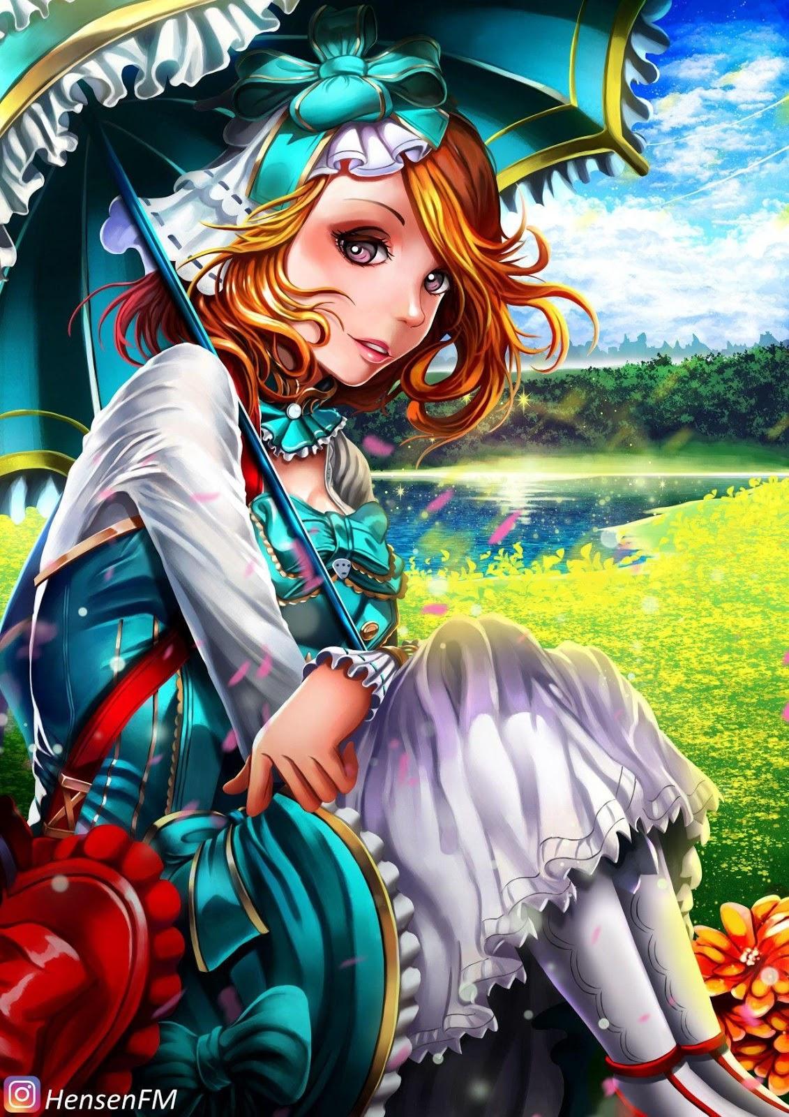 Wallpaper Kagura Flower Season Skin Mobile Legends Full HD for Android and iOS