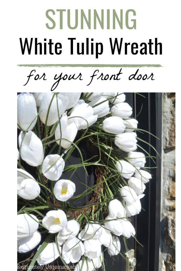 Stunning White Tulip Wreath For Your Front Door