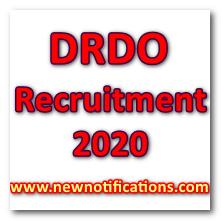 DRDO_Recruitment 2020