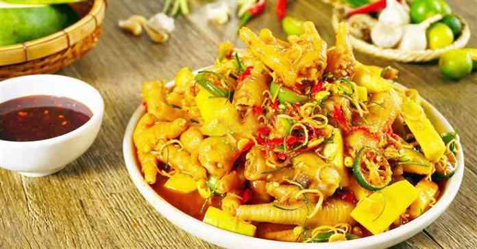 Cách làm chân gà sốt Thái chua cay hấp dẫn