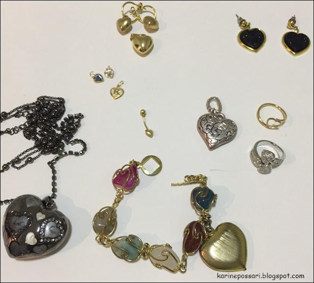 bijuterias de coração