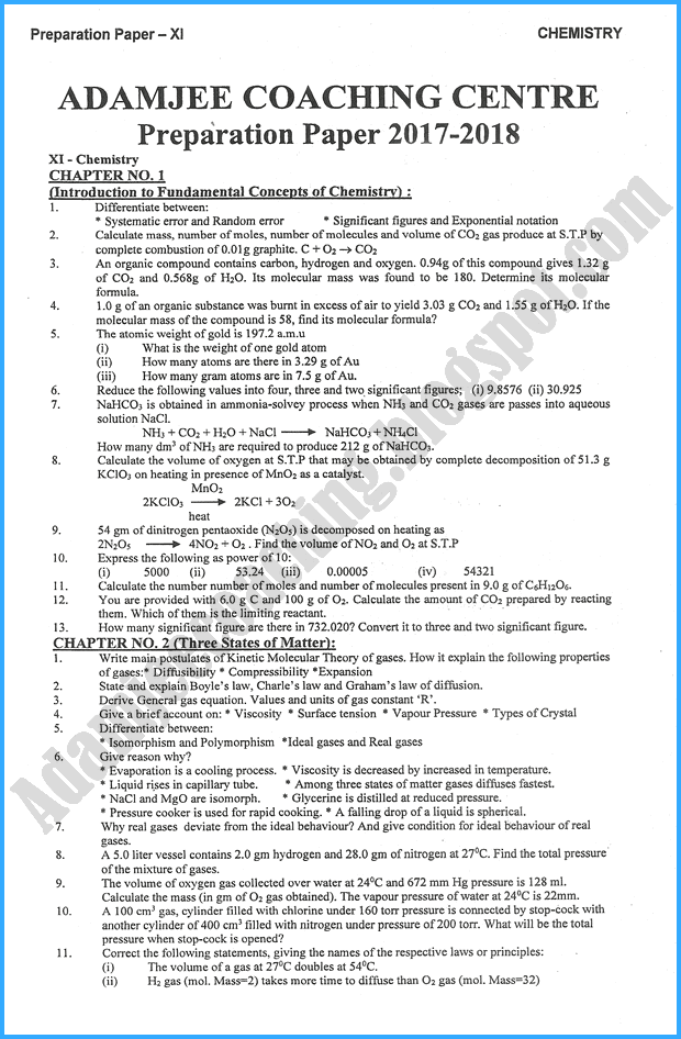 chemistry-11th-adamjee-coaching-guess-paper-2018-science-group