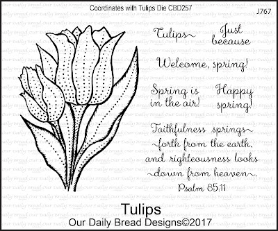 Our Daily Bread Designs Stamp Set: Tulips