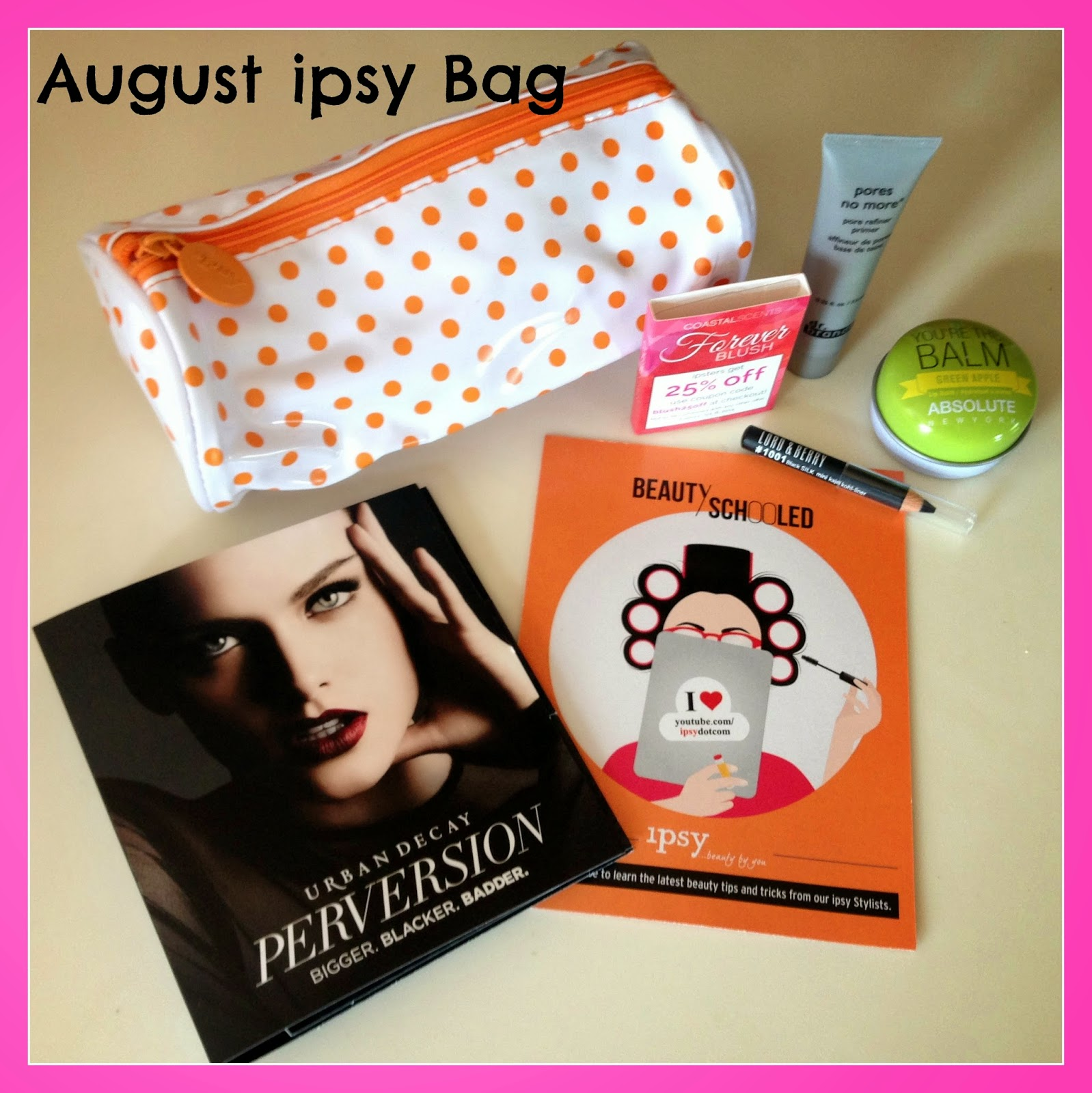 Ipsy Glam Bag Review - August 2014 - Doused in Pink | Chicago Style Blog