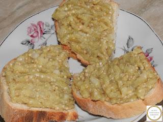 Salata de vinete pe paine reteta,