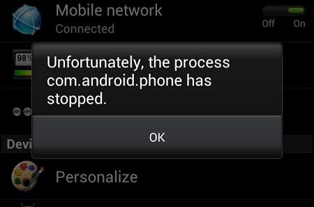 Menangani Sayangnya Proses com.android.phone Telah Berhenti