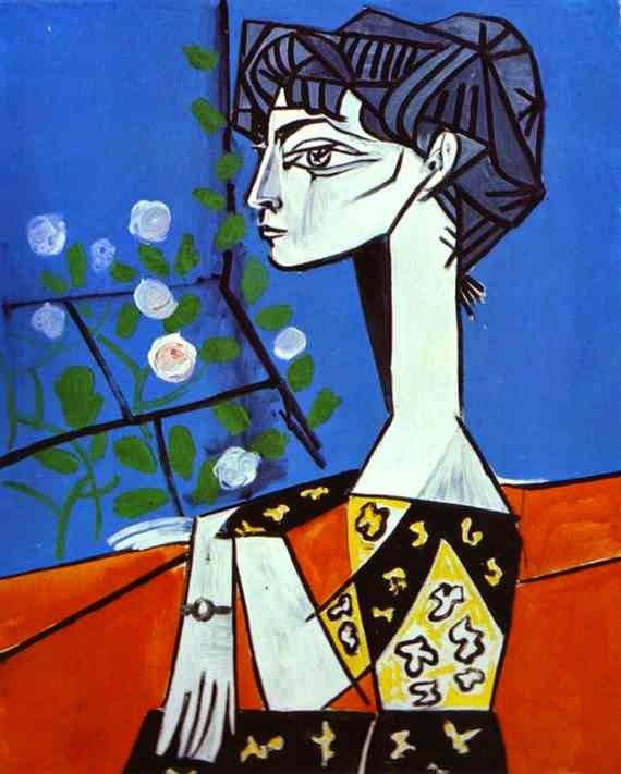 Jacqueline com Flores - Picasso e suas pinturas ~ O maior expoente da Arte Moderna