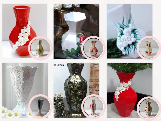 vasos feito com molde de caixa de leite