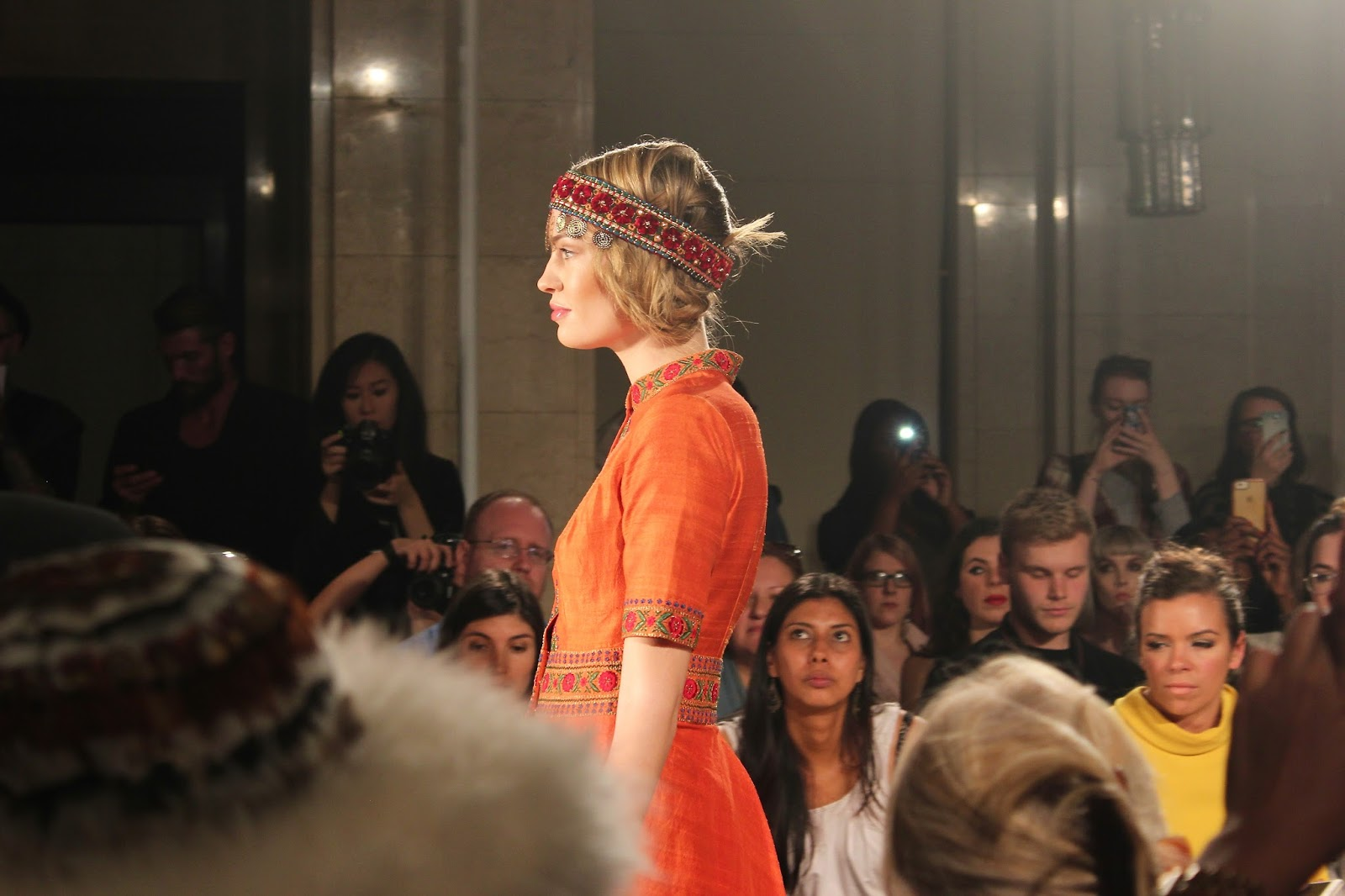 Georgie Minter-Brown, actress, blogger, fashion, london fashion week, designer, catwalk, models, fashion scout, maral yazarloo