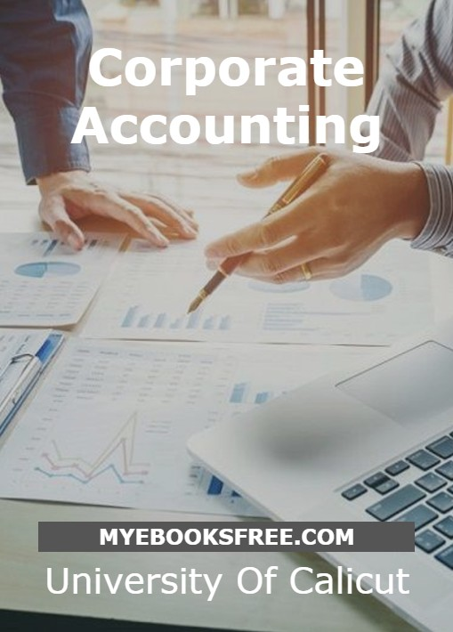 Corporate Accounting PDF Book by University Of Calicut