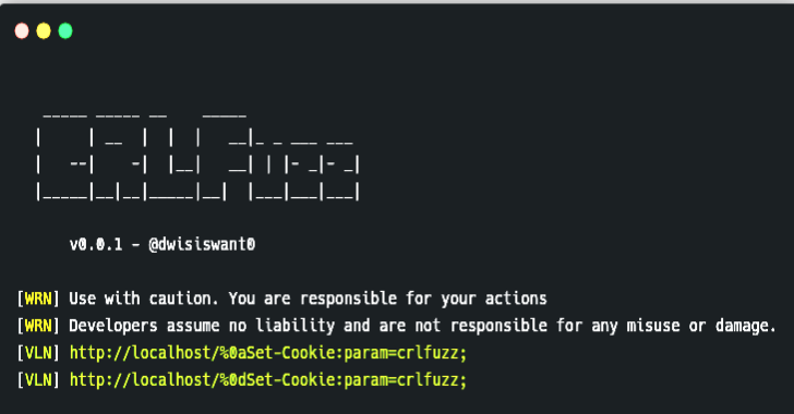 CRLFuzz : A Fast Tool To Scan CRLF Vulnerability Written In Go