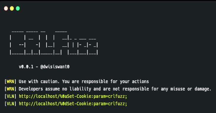 CRLFuzz : A Fast Tool To Scan CRLF Vulnerability Written In Go