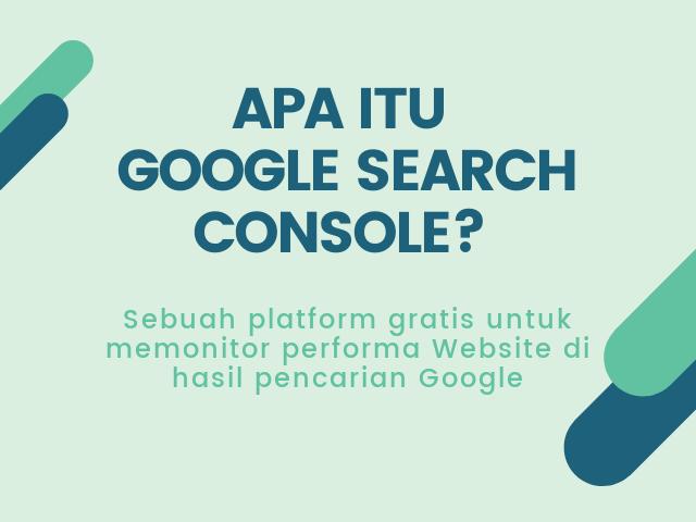 apa itu Google Search Console?