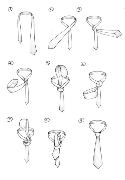 How to Tie A Tie : A CAVENDISH KNOT