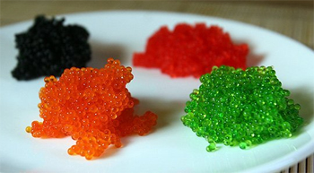 image of colorful fish roe