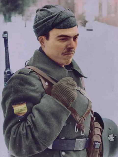 Spanish Blue Division soldier in 1941 worldwartwo.filminspector.com