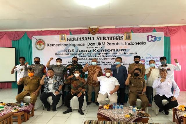 Koperasi Konsumen Kowargi Sejahtera Indonesia (Kowargi) bersinergi dengan lembaga pembiayaan Duha Madani Syariah dan PT Satoe Juara Nusantara (SJN)