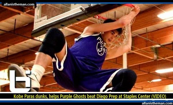 Kobe Paras dunks, helps Purple Ghosts beat Diego Prep at Staples Center (VIDEO)
