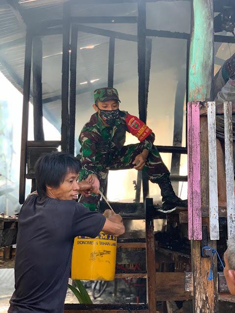 Rumah Warga Kelurahan Batangmata Terbakar, Sang Anak Jadi Korban dan Alami Luka Bakar