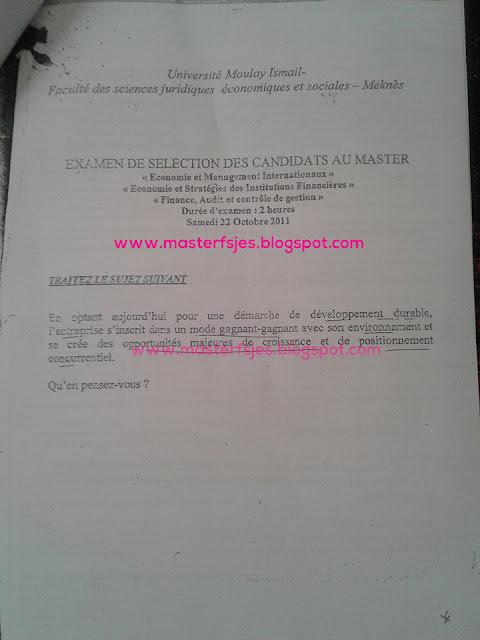 Concours Master FACG et ESIF et EMI