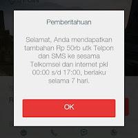 Dapet Pulsa 50rb dari Telkomsel gratis