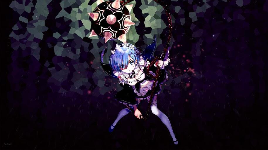 Emilia, Re:Zero, Anime, Girl, Maid, Morning Star, 4K, #4.2670