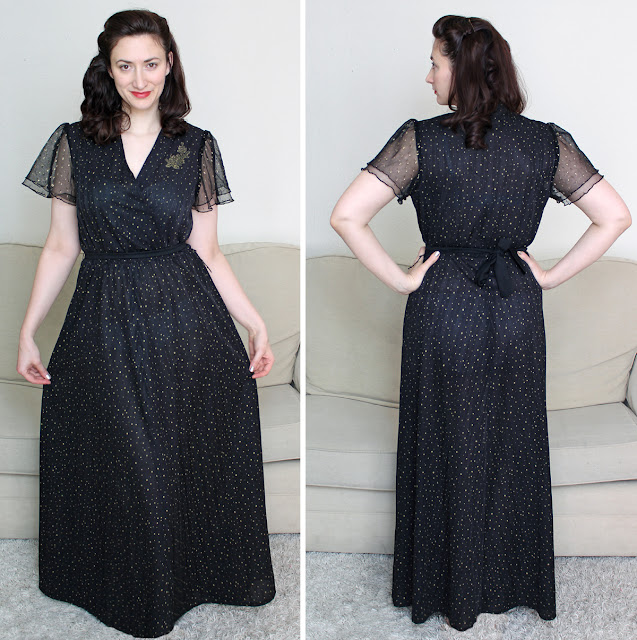 Wendy's Week - Swing & Swatching - 1970's Maxi dress in a 1930's style