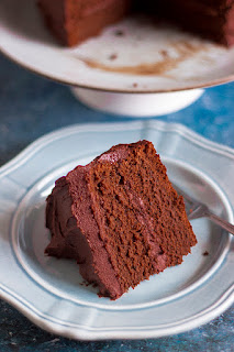 eggless chocolate cake with dark chocolate ganache