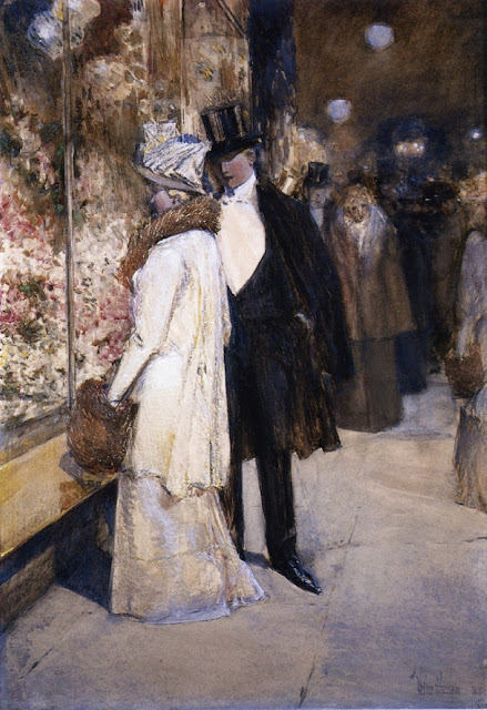 1892. Childe Hassam - A New Year's Nocturne, New York