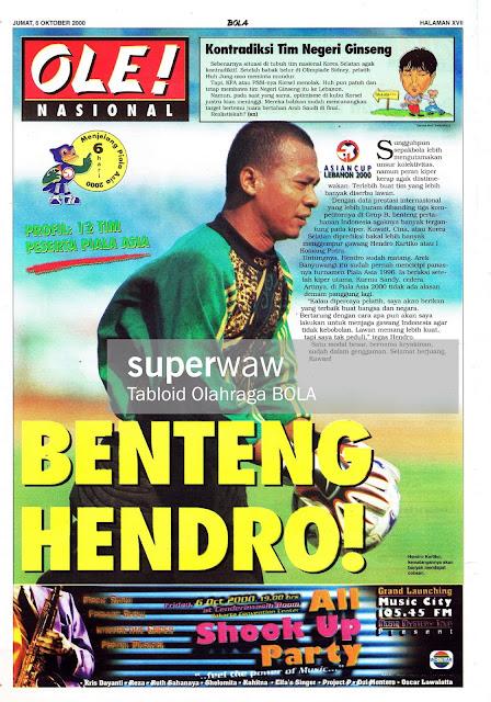 HENDRO KARTIKO KIPER TIMNAS INDONESIA 2000