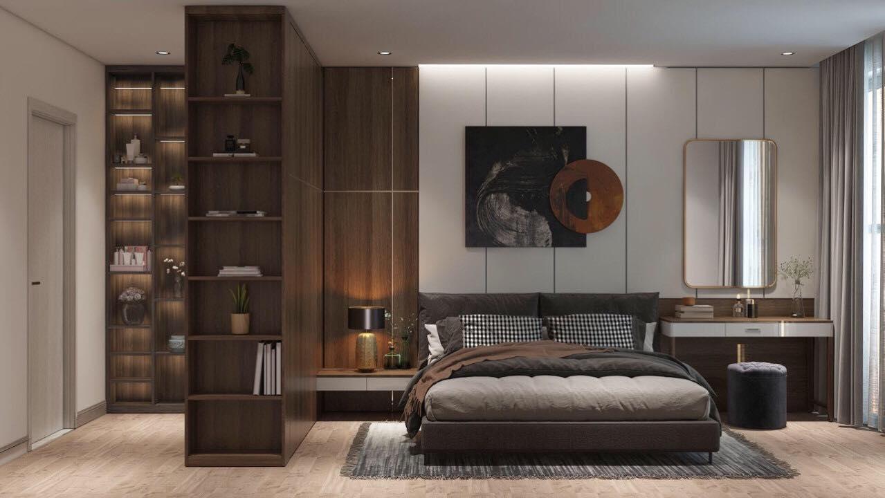 Mẫu thiết kế phòng ngủ sang trọng chung cư anland lake view
