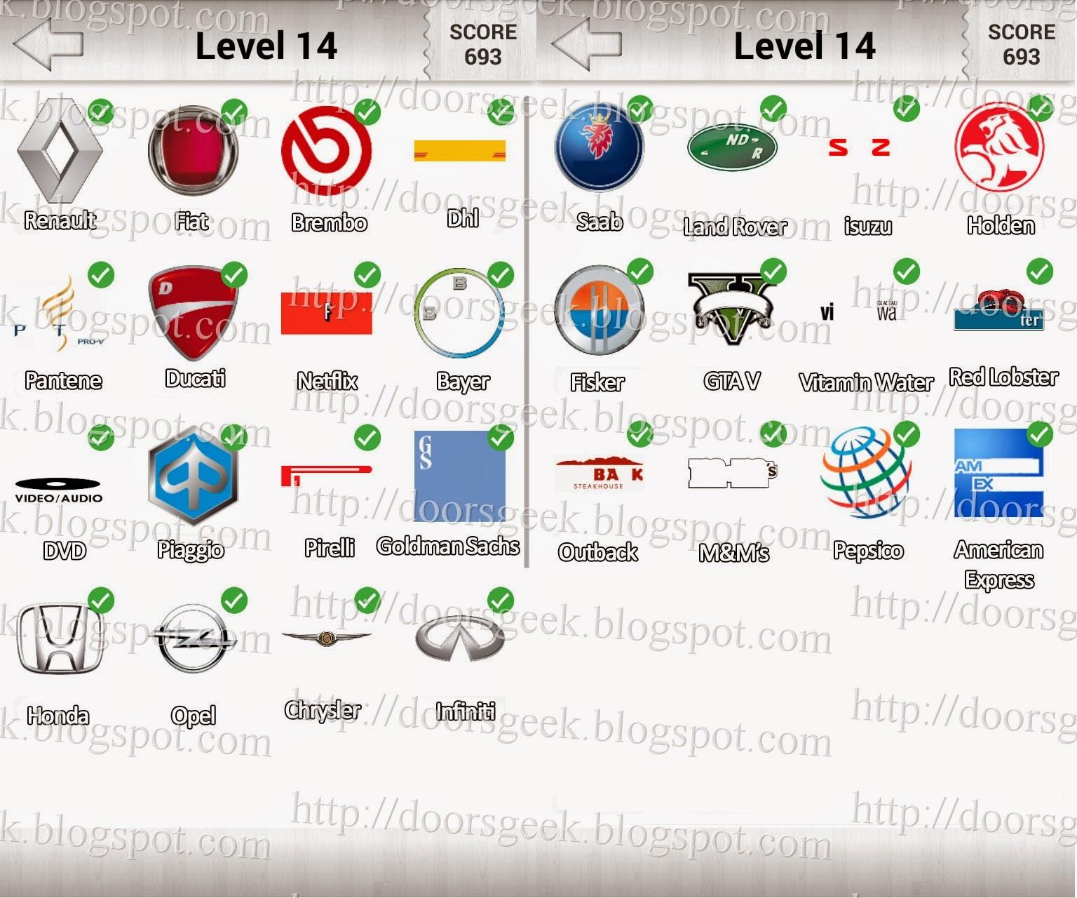 logo quiz deluxe level 14 candy logo doors geek