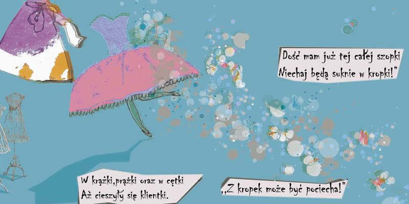 ilustracja dla dzieci ilustratorka Urbaniak wiersze jana brzechwy princess