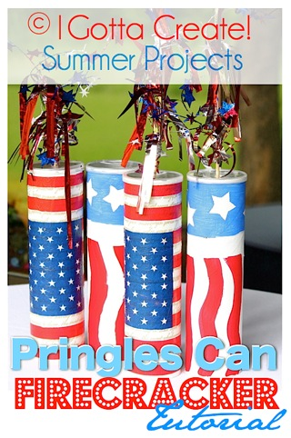 Pringles Can Firecracker Tutorial by I Gotta Create!