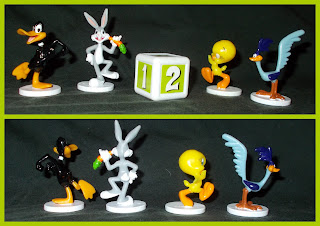 03752; 4-Toon Race Game; 4-Toon Race Jeu; 4-Toon Race Juego; Board Game; Boardgame Pieces; Bugs Bunny; Cartoon Characters; Daffy Duck; Game Figures; Game Playing Pieces; La Carrera De Los Looney Tunes; Le Jue; Loony Tunes; Mattel Games; Mattel Toys; Road Runner; Small Scale World; smallscaleworld.blogspot.com; That's All Folks; Tweaty Pie; WB Figurines;