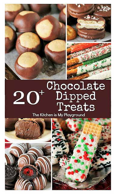 20+ Chocolate Dipped Treats For Christmas Image