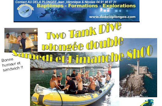 A PARTIR DE DEMAIN !! PLONGÉE DOUBLE TWO TANK DIVE !!!