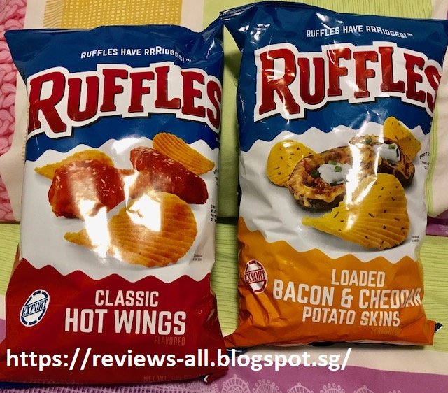 Ruffles: Hot Wings and Bacon & Loaded Bacon and Cheddar Potato Skins