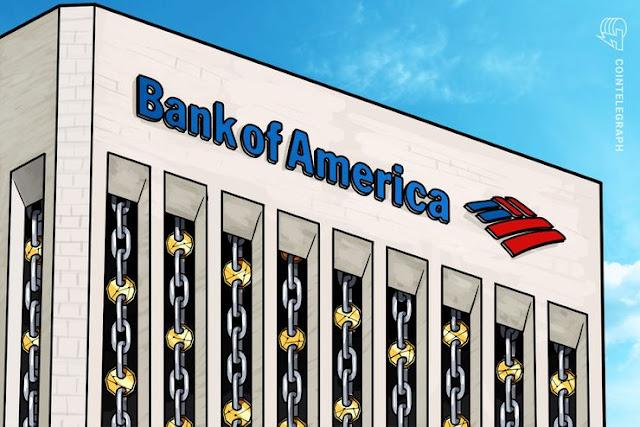 Bank of America obtiene patente para almacenar tenencias en criptos de los clientes en cuentas empresariales