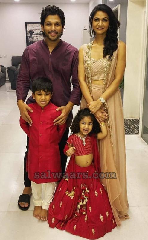 Allu Arjun Daughter in Red Crop Top