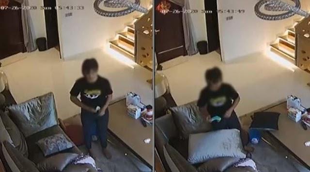 Terekam CCTV Wanita Simpan Masker di Dalam CEL4N4 Lalu Dikeluarkan Lagi, Iis Dahlia