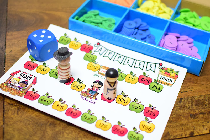 FREE Place Value Apple Board Game