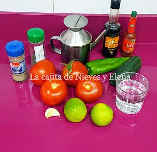 Ingredientes gazpacho César