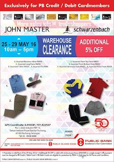 Public Bank John Master & Schwarzenbach Warehouse Sale