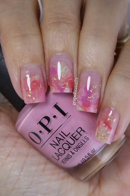 OPI Smoosh Nail Art